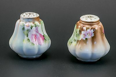 Antique Painted Floral Salt & Pepper Shakers