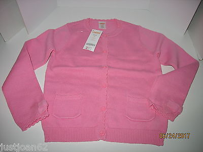 Gymboree Girls Size 7 8 Cardigan Sweater PINK Back to School NEW