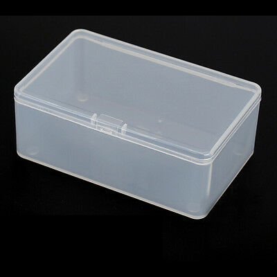 Square Plastic Clear Transparent With Lid Storage Box Collection Containers Case