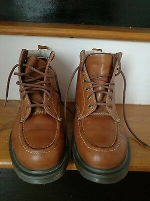 DOC DR. MARTENS DERBY BOOT DAMIAN TAN SIZE 8uk