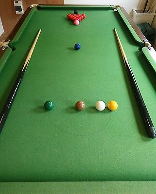 Riley quarter size slate bed snooker table