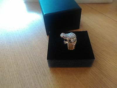 Gorgeous Frog Ring Ruby & Diamond 18ct Yellow Gold Size L