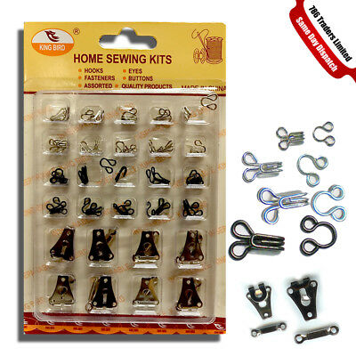 New Hooks & Eyes Sewing Crafts Sets of Assorted Siz Skirts Hooks Bra Fasteners
