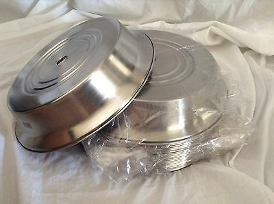 Lot of 24!  Banquet Catering & Room Service Plate Cover Round Stainless