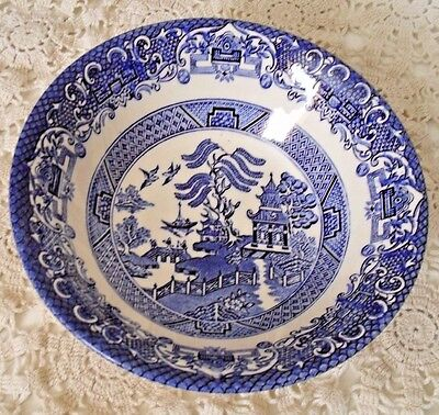 """LOT 4 *Blue Willow* Staffordshire English Ironstone 6 1/4""""  cereal bowl (s)"""