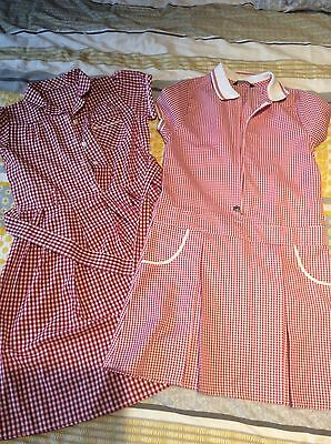 X2 George girls Red school summer dresses (age 9-10 years)