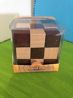 Rubix Cube Snake Puzzle 3D WOOD TOY Game KIDS CHILDREN TWIST GIFT New In Box