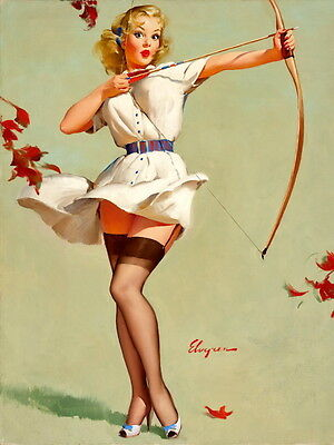 VINTAGE PINUP GIRLS COME ON IN A3 ART PRINT PHOTO POSTER GZ6164