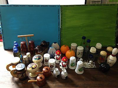 HUGE LOT OF 19 Salt and Pepper Shakers