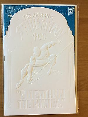 "Amazing Spider Man 400 - White variant - NM - ""Death"" of Aunt May"