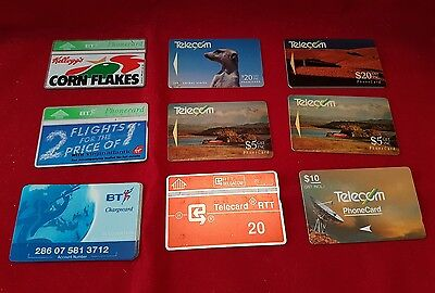 Collection of 20 Used Phonecards, BT, New Zealand and others