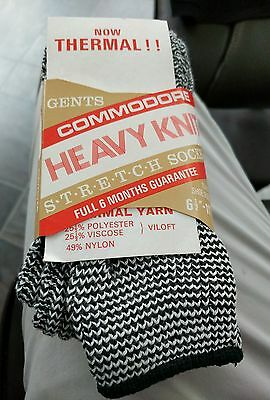 Gents Commodore Heavy Knit Stretch Grey Socks - Fits Sizes 6.5-11