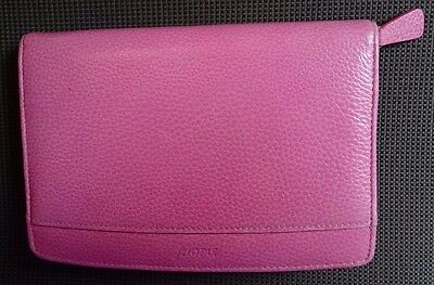 Filofax  Personal Zipped Finsbury Real Leather Organiser - Pink + Extras