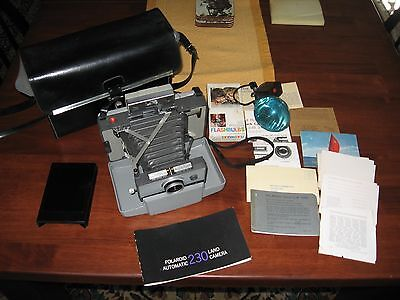 Vintage Polaroid 230 Land Camera With Case And Accessories