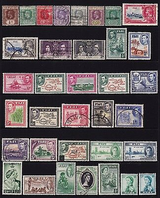 Fiji Collection of Stamps 4 pages all different