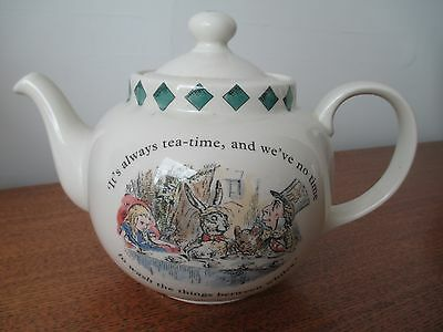 Rare Vintage Poole Pottery Alice In Wonderland Mad Hatters Tea Party Teapot
