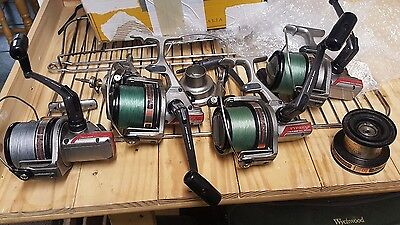 daiwa pm4000h carp fishing reels x 4 with ss3000 bag