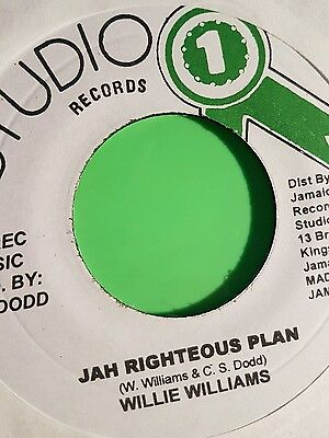 Studio One Jah Righteous Plan / Version Willie Williams  (New)