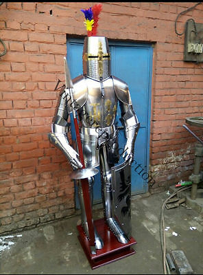 Medieval Armour Wearable Knight Crusader Full Suit Of Armor Collectible Costume1