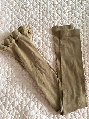 Girls Body Wrappers Ballet Dance Tights Size Medium/Large 8-14 Footless