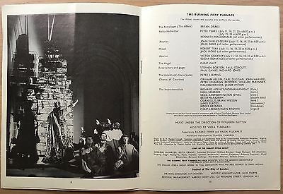 BENJAMIN BRITTEN The Burning Fiery Furnace 1966 PROGRAMME PETER PEARS Southwark