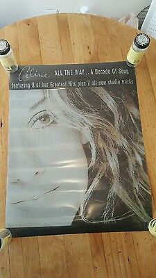 Celine Dion Poster All The Way A Decade In Song 1999 PROMO RARE HTF