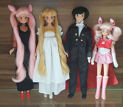 Sailor Moon Puppen Sammlung Sernity + Black Lady + Chibi + Tuxedo Mask doll