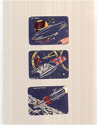 1950 s skelly space cards lot of 3