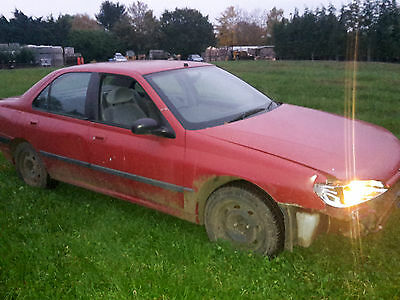 Red Peugeot 406, running, nice runaround vehicle or for spares.