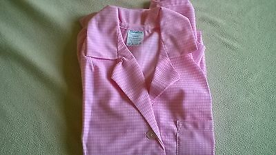NEW & UNWORN Ladies Nylon Overall /Vintage Pinny Uniform in Pink & Gingham Check