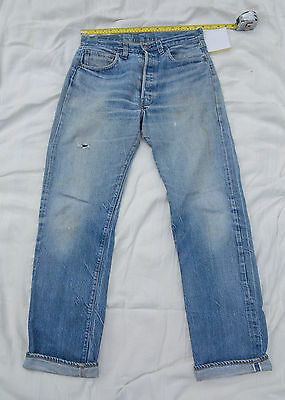 Levi's 501 jeans, genuine vintage (late 70s-early 80s), selvedge.