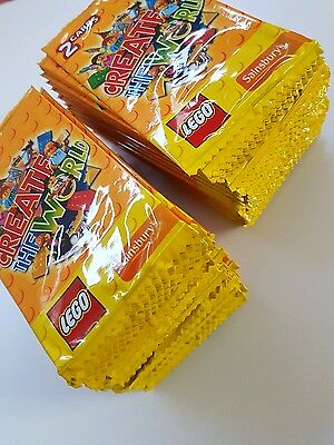 100 packs of Create the world Lego cards