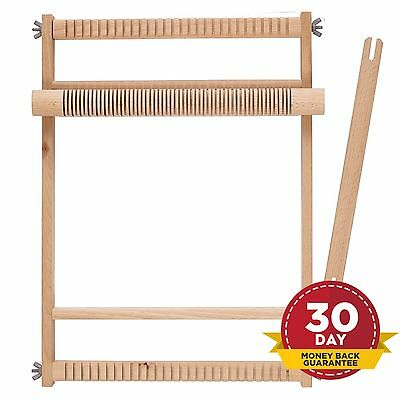 Weaving Loom Natural Small Large Wooden Crafts Arts Weave Wood Looms Compact