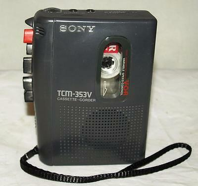 Sony Walkman Tcm-353V Cassette Recorder Player Tested