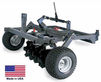 "DISC HARROW for ATVs UTVs & Garden Tractors - 48"" Cut Width - Eight 16"" Blades"