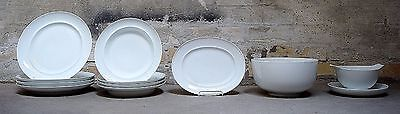 Bing & Grondahl, B&G, White Koppel, 4 p. Dinner service. 11 parts.