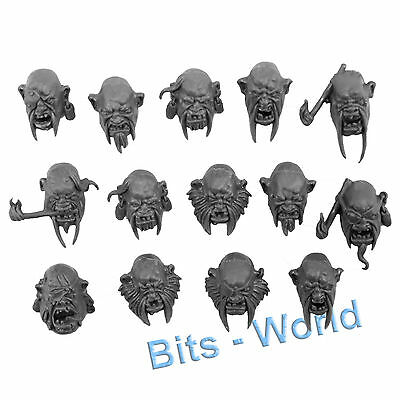 WARHAMMER BITS: OGRE KINGDOMS LEADBELCHERS - HEADS 14x