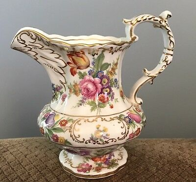 Dresden Sprays Hammersley Floral Creamer Milk Pitcher