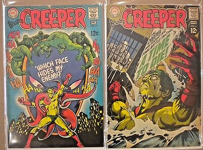 Beware The Creeper 4 VG+ and 6 FN- ( Ditko art )