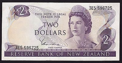 New Zealand $2 Banknote 1977-81 P-164d H. R. Hardie Type I