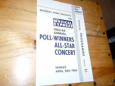 New Musical Express ; Programme ;1964 ; The Beatles ; Rolling Stones ; Searchers