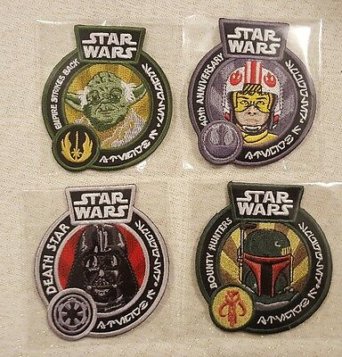Star Wars Funko Smuggler's Box Patches Darth Vader, Boba Fett, Yoda, X-Wing Luke