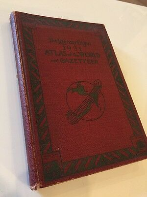 Vintage 1931 Atlas of the World and Gazetteer Literary Digest Funk & Wagnalls