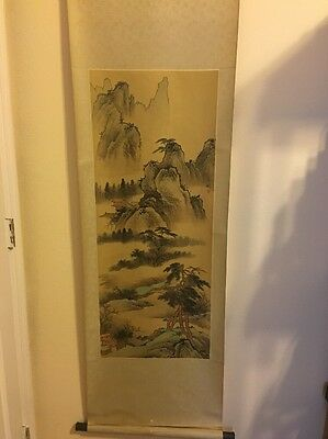 Japanese Hanging Scroll Landscape Painting Fine  Asian art