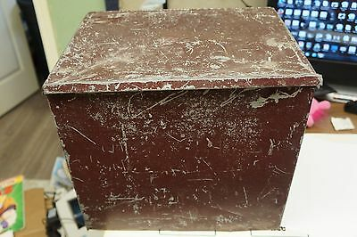 Vintage Milk Bottle Box Insulated Galvanized Metal Dairy Porch Cooler