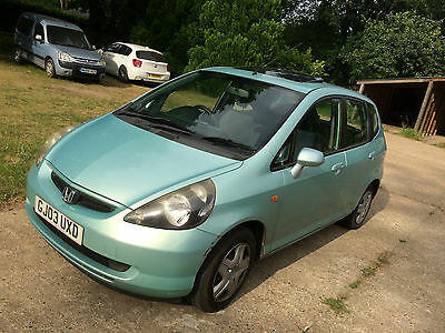 Honda Jazz, with MOT, Green, 5 door, Running, 2003 registered, petrol, Sunroof