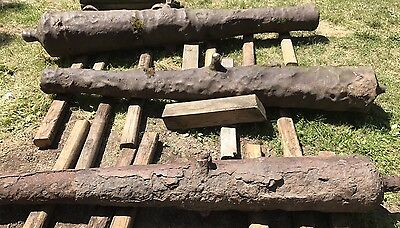 3 Antique Cast Iron Spanish & English 7' 8' 9' Shipwreck Cannons Ca. 1600-1700s