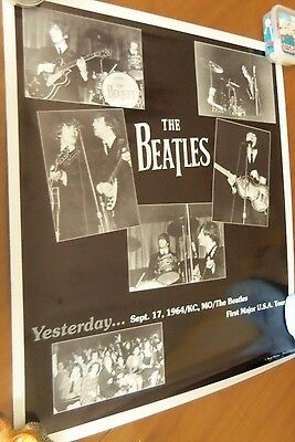 Beatles 1964 1st US TOUR Ltd Ed Signed Numbered Poster by Ken White Photog COA