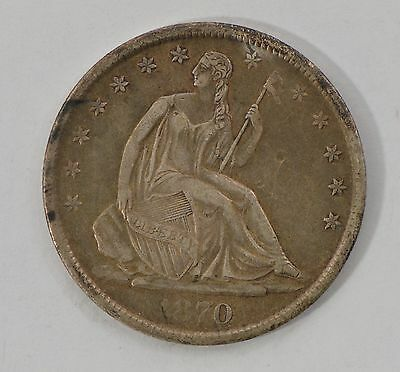 1870-S Seated Liberty Silver Half Dollar *G97