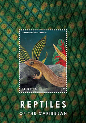 St Kitts - Reptiles of the Caribbean, 2014 - S/S MNH